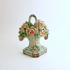 Vintage Hubley Door Stop Flower Basket Cast Iron Doorstop by efinegifts on Etsy