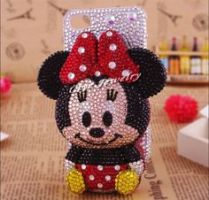 3D cute cartoon minny rhinestone phone case for iphone 4g 3d phone housing for iphone 4/4 251 on AliExpress.com. $34.00