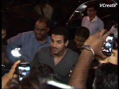 John Abraham mobbed by fans.
