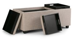 Avalon Storage Ottoman Bench With Storage, Sectional Sofa, Living Room Furniture, Den, Ottoman, Home, Modular Couch, Hall Furniture, Corner Sofa