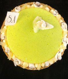 Entremets citron vert - coco
