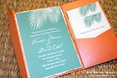 Palm Tree Fronds Wedding Invitations | My Personal Artist