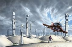 Prelude to Foundation by Peter Elson, Science Fiction Illustrator #petereslon
