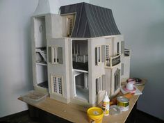 Dollhouse roof under construction - finish