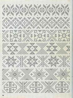 "Photo from album ""Alice Starmore Book of Fair Isle Knitting"" on Yandex. Fair Isle Knitting Patterns, Knitting Charts, Knitting Stitches, Knit Patterns, Sock Knitting, Vintage Knitting, Free Knitting, Motif Fair Isle, Fair Isle Chart"