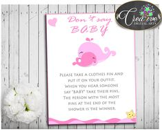 New product: Pink Whale Baby S... http://snoopy-online.myshopify.com/products/pink-whale-baby-shower-girl-dont-say-baby-game-printable-with-nautical-whale-pink-theme-digital-files-jpg-pdf-instant-download-wbl02 #babyshowerparty #babyshowerinvites #babyshoweridea