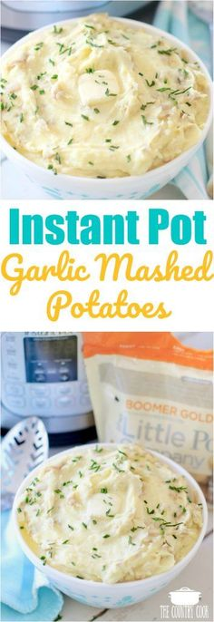 Instant Pot Garlic Mashed Potatoes recipe from The Country Cook using These Instant Pot Garlic Mashed Potatoes are so incredibly flavorful and easy to make! You don't even need to peel the potatoes first! Instant Mashed Potatoes, Garlic Mashed Potatoes, Mashed Potato Recipes, Taco Dip, Pressure Cooker Mashed Potatoes, Country Cooking, Pressure Cooker Recipes, Pressure Cooking, Slow Cooker