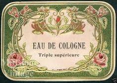 Image result for vintage perfume labels