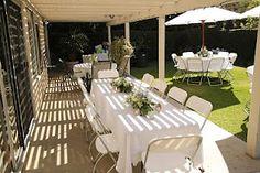 Elegant Valentine Backyard Party