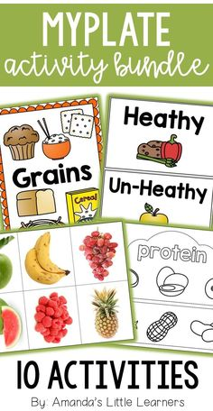 Nutrition Activity Bundle – MyPlate Food Groups Learn about the different food groups and the myplate diagram with this set of activities. Great for kindergarten or first grade students to learn about healthy eating and a balanced diet. Healthy Snacks For Diabetics, Healthy Work Snacks, Healthy Kids, Healthy Eating, Healthy Food, Healthy Habits, Nutrition Activities, Kids Nutrition, Health And Nutrition