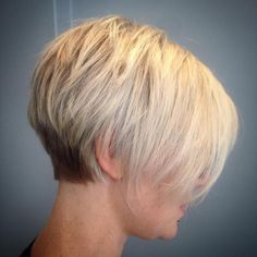 Layered Tapered Pixie With Long Bangs short hair