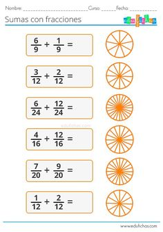 Math Fractions Worksheets, Learning Fractions, 4th Grade Math Worksheets, Maths Puzzles, 3rd Grade Math, Teaching Math, Math For Kids, Fun Math, Math Charts