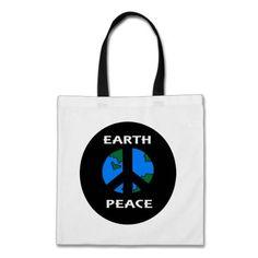 Earth Peace Symbol Bag