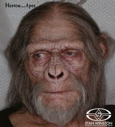 Working with Rick Baker on Tim Burton's PLANET OF THE APES, Bill Corso had the opportunity to change Charlton Heston, the human hero of the original series, into the ape Zaius...