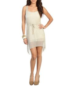 Pleated High Low Dress (Gold). Wet Seal. $29.50