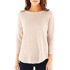 jcp | MNG by Mango® Boatneck Sweater Casual look: wear with jeans, scarf, and boots