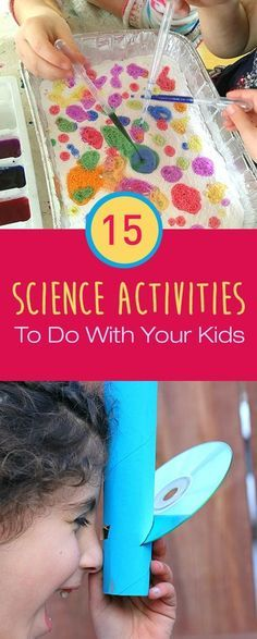 Kids are natural explorers they are constantly thirsty for knowledge and curiosity is their thing. It's really important to feed your child's need for answers and learning new things. As you know kids get bored very easily so to teach them something it has to be fun. Here we have some cool and entertaining science experiments you can try with your kids. They will learn a lot of new things while playing. Science Experiments For Toddlers, Science Activities For Preschoolers, Simple Science Experiments Kids, Science Games For Kids, Day Camp Activities, Activities To Do With Toddlers, Games To Play With Kids, Mad Science, Science And Nature