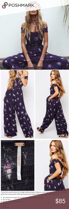 'Aster' Printed Jumpsuit It's back in stock! I have one more Aster Jumpsuit for sale, the popular printed, stretchy and spacious jumpsuit that's perfect for vacay or summer! New with tags, size XS.  😁Don't be afraid to ask questions😁  ❤️No trading please, but I love offers! ❤️ Free People Pants Jumpsuits & Rompers