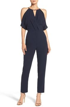 Free shipping and returns on Adelyn Rae Cold Shoulder Woven Jumpsuit at…