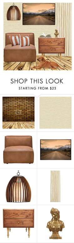 """""""Untitled #617"""" by soleuza ❤ liked on Polyvore featuring interior, interiors, interior design, home, home decor, interior decorating, WALL, Andrew Martin, Pottery Barn and Volk"""