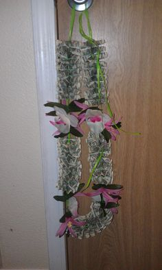 $50 money lei; now that I know how to make one, money gifts won't be so boring a gift