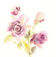 ORIGINAL Watercolour Painting Roses Painting by CanotStop on Etsy