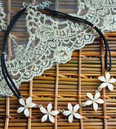 White Camellia String Necklace