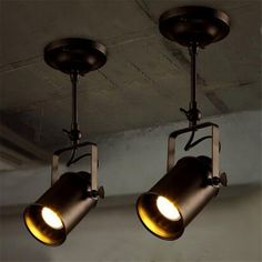 Modern Brief Vintage Led Ceiling lamps,American Industrial Creative Led Ceiling Lights for bar clothing store Plafond Lamp
