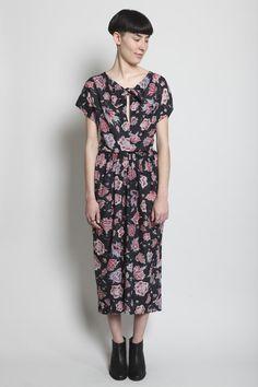 Totokaelo - Isabel Marant - Haway Dress - Black Floral