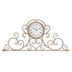 Tick, tock, clocks are trending! Display our sophisticated Bella Gold Scroll Clock over a door, window, or mantle! #kirklands