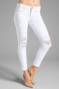 AG Adriano Goldschmied The Stilt - ShopStyle Skinny Denim Best White Jeans, White Skinny Jeans, Cropped Skinny Jeans, Skinny Fit, White Denim, Super Skinny, White Skinnies, Denim Trends, Citizens Of Humanity Jeans