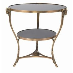 THE WELL APPOINTED HOUSE - Luxury Home Decor- Antique Brass Side Table with Marble Tops - End Tables & Sofa Tables - Furniture #Furniture #interiordesign #redecorating #decorate #homedecor Arteriors