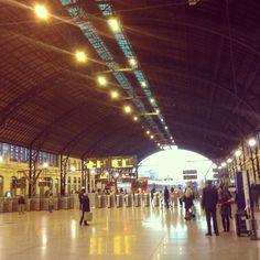 Valencia España! Estacion de tren Norte