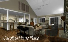 HOUSE PLANS WITH OPEN FLOOR PLAN LAYOUT