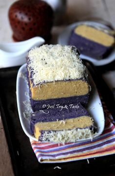 Resep Cake Lapis Talas Kukus Dengan Vla Talas Tea Cake Makanan Enak Makanan