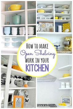 How to Make Open Shelving Work in Your Kitchen | eBay (spon)
