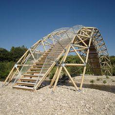 Bridge made mainly from paper, by Shigeru ban