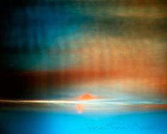 Surreal Sunset blue orange red abstract by FrancesPhotography
