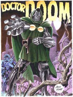 Jack Kirby's Doctor Doom art recreation by Bruce Timm Comic Book Artists, Comic Artist, Comic Books Art, Bruce Timm, Alex Ross, Fantastic Four Villains, Spiderman, Jack Kirby, The Villain