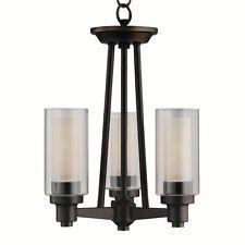 Kichler 3743 Olde Bronze Transitional Three Light Semi-Flush Ceiling Fixture fro