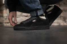 Puma Schuh Suede Classic+ Black/Dark Shadow