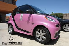 Small and pink! DesertWraps.com installed a pink Smart Car wrap in high quality vinyl. Contact DesertWraps.com today. 760-935-3600 #SmartCar #Car #CarWrap #Pink #PinkSmartCar #PalmDesert #LaQuinta #PalmSprings #CoachellaValley