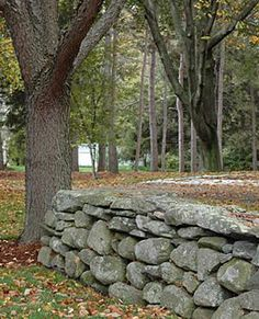 New England Stone Walls in Windham NH including fieldstone walls and retaining walls
