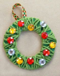 christmas crafts for kids to make ornament crafts for kids Yarn Wrapped Christmas Wreath Ornaments Childrens Christmas Crafts, Christmas Gifts For Parents, Christmas Crafts For Kids To Make, Preschool Christmas, Kids Christmas, Holiday Crafts, Simple Christmas Gifts, Summer Crafts, Fall Crafts