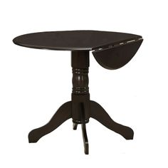 Beautiful Update Your Kitchen Or Dining Area With The Espresso Round Drop Leaf Table.  The Compact