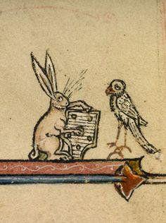中世ヨーロッパの写本画像から見つけてたきた変ななにかを紹介するツイートをまとめました。主に動物ネタが多いです。