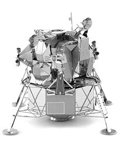 Apollo Lunar Module - Metal Earth Model Puzzle-Facts about the Apollo Lunar Module: Was a two part spacecraft used to carry a crew of two from luna