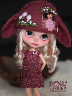 Felt Hat for Blythe Dolls | Flickr - Photo Sharing!