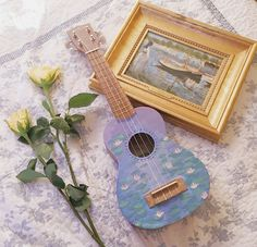 Easily Learn The Ins And Outs Of Guitar Playing – Learning Guitar Ukulele Art, Guitar Art, Ukulele Songs, Painted Ukulele, Painted Guitars, Ukulele Design, Cute Surprises, Art Hoe Aesthetic, Guitar Painting