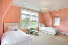 56 Ideas Bedroom Paint Ideas Accent Wall Coral Beds For 2019 Dream Bedroom, Home Bedroom, Bedroom Decor, Bedroom Color Schemes, Bedroom Colors, Green Girls Rooms, Shabby Chic Green, Coral Walls, Bedroom Orange